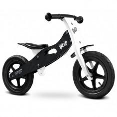Bicicleta de lemn fara pedale Toyz Velo Negru