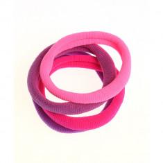 Set 4 elastice colorate, subtiri