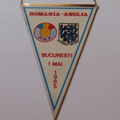 Fanion fotbal meci ROMANIA - ANGLIA 01.05.1985