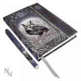 Set agendă / jurnal cu copertă în relief și pix Vrăji
