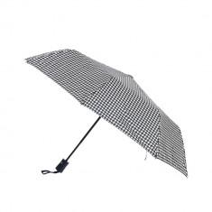 Umbrela pliabila, model alb-negru