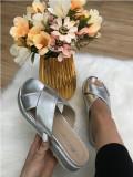 Papuci dama argintii marime 36, 37, 38, 39, 40+CADOU, Din imagine