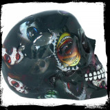 Statueta craniu Candy Skull 19 cm