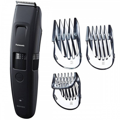 Trimmer pentru barba/par Panasonic ER-GB86-K503 lavabil 57 trepte tundere 3 accesorii Negru foto