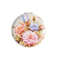 Oglinda rotunda, cu flori