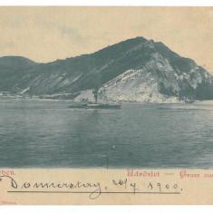 2942 - ORSOVA, Romania, ship, Litho - old postcard - unused - 1900, Necirculata, Printata