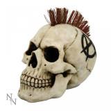 Statueta craniu punk Anarhistul 17 cm