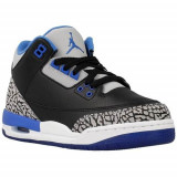 Adidasi Copii Nike Air Jordan 3 Retro 398614007, 35.5, 36, 36.5, 37.5, 38, 38.5, Gri