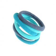 Set 6 elastice in tonuri albastre