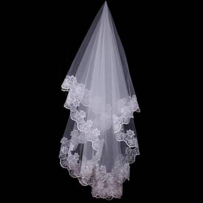 Voal de mireasa superb lungime 1,5 m alb sau ivory nou model deosebit foto
