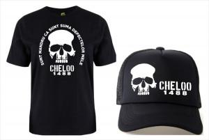 SETURI TRICOU + SAPCA > OMBLADON 20 CM CHELOO, PARAZITII, personalizat HIP- HOP