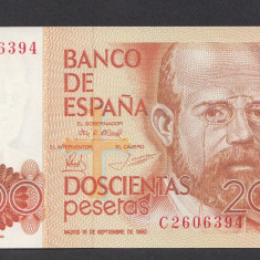 A2730 Spain Spania 200 pesetas 1980 UNC