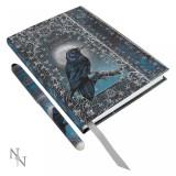 Set agendă / jurnal cu copertă în relief și pix Cartea umbrelor