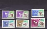 ROMANIA 1966  LP 641  ANIMALE  PREISTORICE  SERIE   MNH, Nestampilat