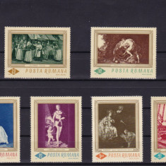 ROMANIA 1967  LP 644  REPRODUCERI  DE  ARTA  SERIE   MNH