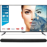 Televizor Horizon LED Smart TV 43 HL8510U 109cm Ultra HD 4K Black Silver + Bundle HAV-S2860