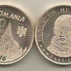 ROMANIA  50  BANI 2016  ,  IANCU DE HUNEDOARA  - UNC  , din fisic ,  necirculata