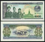 LAOS █ bancnota █ 1000 Kip █ 2003 █ P-32Ab █ UNC █ necirculata