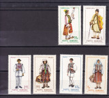 ROMANIA 1968  LP 690 COSTUME NATIONALE  I   SERIE  MNH
