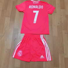 SET ECHIPAMENT RONALDO REAL MADRID SEZON 2018-2019 4-15ANI, XL, XXL, Tricou + Pantalon