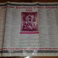 Calendar crestin ortodox pe anul 1996