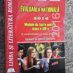 LIMBA SI LITERATURA ROMANA , EVALUAREA  NATIONALA CLASA A VIII A ., Clasa 8