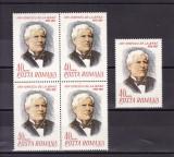 ROMANIA 1968  LP 677 -100  ANI NASTEREA LUI ION IONESCU DE LA BRAD BLOC 4+1  MNH
