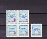 ROMANIA 1967 LP 654  AL X-lea  CONGRES AL LINGVISTILOR  BLOC DE 4 +1 TIMBRE  MNH