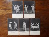 CARTI POSTALE UMORISTICE - CLASICE - DUEL COPII - 5 SCENETE - CIRCA 1900 - 5 BUC, Necirculata, Fotografie