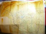 Harta Judetului Gorj ,Autori N.Baranovsky si Gh.Neamu Academia RSR ,60x50 cm