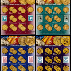 Romania 2013, LP 1989 c, Monede romanesti de aur, minicoli, MNH! LP 157,55 lei, Istorie, Nestampilat