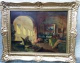Tablou autentic  Peczely Antal, Portrete, Ulei, Impresionism