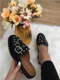 Papuci dama negri marime 37, 38, 39, 40+CADOU, Din imagine