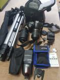 Kit NikonD3100+Obiective Nikon VR 18-55 si 55-300+Blitz Nissin Di700