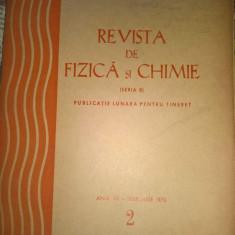 Lot Revista de fizica si chimie numerele de la  1 la 12