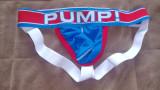 PUMP! Blue Jock(strap) / Suspensori / Lenjerie bărbați - marimea M, Albastru