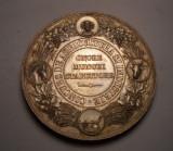 Medalie Regele Carol I Concurs de Agricultura si Industrie Plugul la Stanga RARA