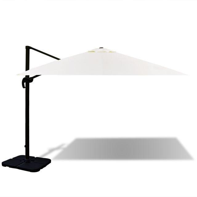 Roma Umbrela din aluminiu cu baza portabila, 3 x 3 m