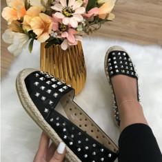 Pantofi/espadrile dama negre cu tinte marime 37, 39, 40, 41+CADOU, Din imagine