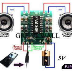 Modul PAM8403 / Amplificator audio 2 x 3W (v.56)