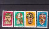 ROMANIA 1969  LP 714  MASTI  FOLCLORICE  SERIE  MNH