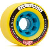 Set 4 roti Longboard Mini Zombie Hawgs 70mm yellow