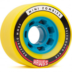 Set 4 roti Longboard Mini Zombie Hawgs 70mm yellow