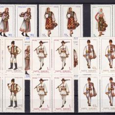 ROMANIA  1969   LP  693   COSTUME  NATIONALE  II  BLOCURI DE 4 TIMBRE  MNH