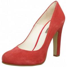 GDY41 Pantofi din piele intoarsa eleganti cu toc, 38