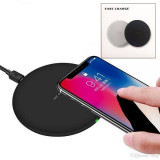 Incarcator Wireless Fast Charger New Model 2018,9V - 10W, Samsung/Apple, negru