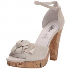 GDY66 Sandale de vara din piele intoarsa, 38