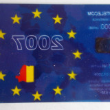 Cartelă telefonică Romtelecom transparentă Uniunea Europeană UE 2007