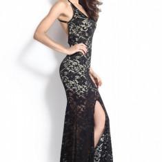 P277-1 Rochie lunga eleganta de seara cu dantela