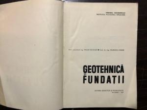 GEOTEHNICA SI FUNDATII de MAIOR NICOLAE, PAUNESCU MARIN, EDITIA A I-A